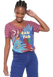 Camiseta Cantão Pop Art Roxa