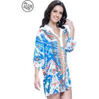 4e3a51841a Dafiti. Vestido Chemise 101 Resort Wear Estampado Plus Size ...