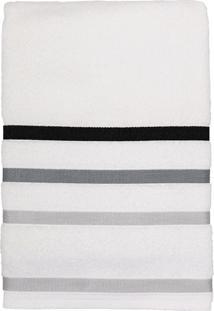 Toalha De Rosto Felpuda 100% Algodão 45X80 Lumiere - Teka - Branco / Cinza