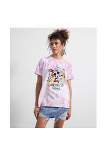Camiseta Manga Curta Alongada Tie Dye Estampa Mickey'S Friends | Mickey Mouse | Multicores | Gg