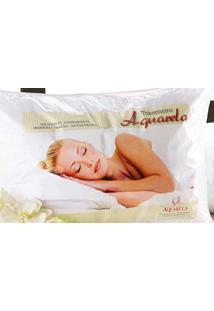 Travesseiro Aquarela Dourados Enxovais Branca