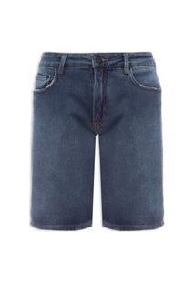 Bermuda Masculina Jeans 5 Pockets - Azul