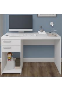 Mesa Para Computador Ávila 2 Gavetas Branco - Artany