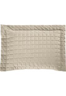 Porta Travesseiro Top Line 180 Fios Confortável Macio Caqui