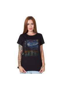 Camiseta Stranger Things X Van Gogh Preto