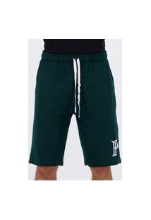 Bermuda Moletom Palmeiras Basic Verde