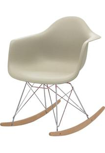 Cadeira Eames Eiffel Com Braco Polipropileno Nude Base Balanco - 53045 Sun House