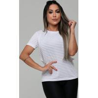 35bb86e15 Blusa Dry Fit C/Listras Em Poliamida Hard Clothing Fit Feminina - Feminino