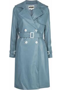 Apparis Trench Coat Impermeável Lucia - Azul
