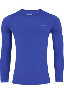 Camisa Elite Térmica Proteção Uv50 Infantil Azul