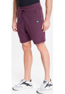 Bermuda Ckj Etiqueta Re Issue Frontal - Bordo - P
