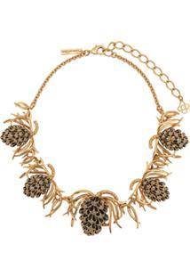 Oscar De La Renta Botanical Necklace - Dourado
