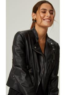 Amaro Feminino Jaqueta Leather Special, Preto