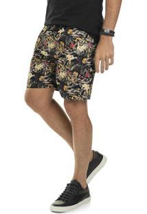 Bermuda Masculina Adulto Preto