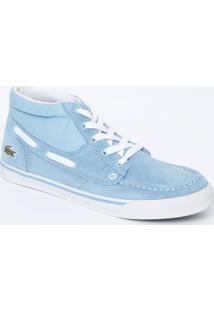 Tênis Com Recortes   Pespontos- Azul Claro   Brancolacoste 2f3385370d