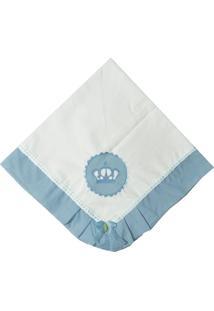 Manta Piquet Coroa Azul