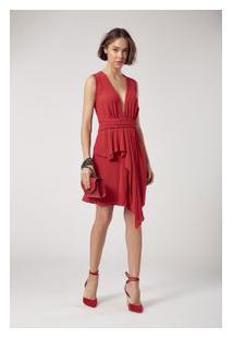 Vestido Mini Pala Vermelho Madri Vermelho Madri