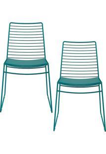 Kit Com 2 Cadeiras Nicole Turquesa - Carraro