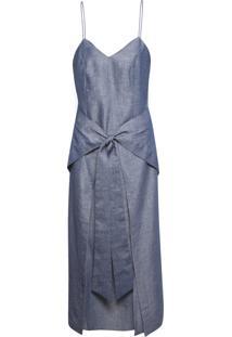 Vestido Amarração - Azul