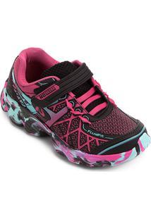Tênis Infantil No Stress Running Velcro - Feminino 2c40b960f3188