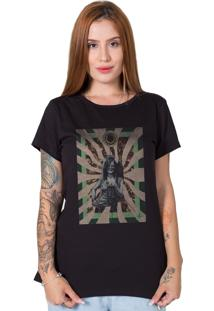 Camiseta Janis Joplin Collage Preto