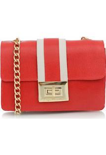 39f2e3a63 Bolsa Pequena Com Alça De Correntes Vermelho