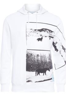 Blusa Masculina De Moletom Andy Warhol - Branco
