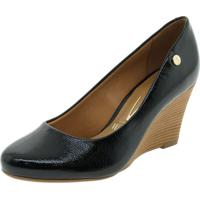 6965fa107f Clóvis Calçados. Sapato Feminino Anabela Preto Vizzano ...