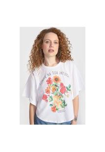Camiseta Colcci Intuição Branca