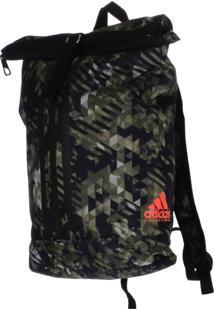 bf9bbcd62 Mochila Adidas Kick Boxing Camuflada Verde/Laranja 10 Litros