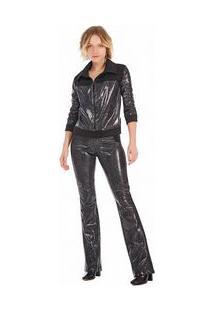 Jaqueta Classica Compose De Tecidos Preto M