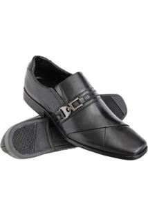 Sapato Social Euro Flex Couro Conforto Macio Leve Resistente Masculino - Masculino