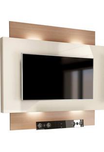 Painel Para Tv 55 Polegadas Com Led Lautrec Ii Off White E Natural
