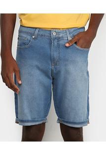Bermuda Jeans Calvin Klein Estonada Masculina - Masculino-Azul Claro