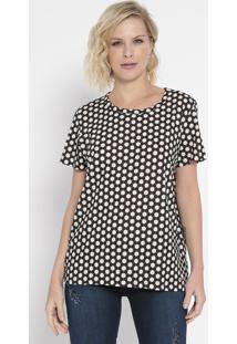 Camiseta Geométrica- Off White & Preta- Colccicolcci