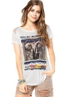Camiseta Facinelli Strass Branca