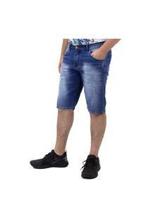 Bermuda Jeans Masculina Slim Plus Size Play Denim