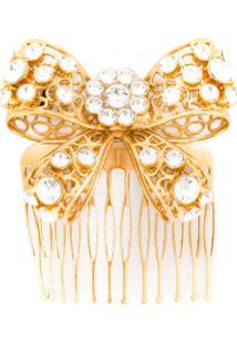 Versace Acessório Para Cabelo Com Cristal - Dourado