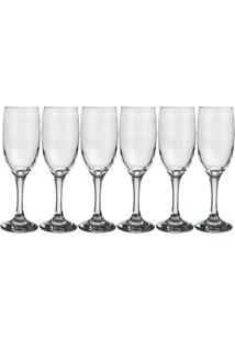 Conjunto De 6 Taças De Champagne Windsor Transparente