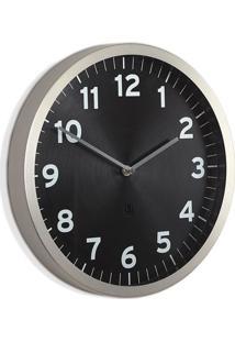 Relógio De Parede Anytime 31,8 Cm Preto Umbra