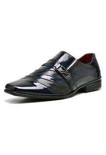 Sapato Social Com Verniz Com Relógio Dubuy 632Mr Azul
