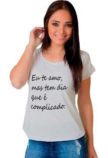 Camiseta Shop225 Eu Te Amo Branca