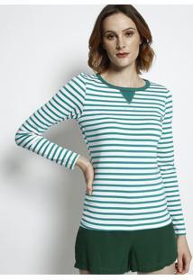 Camiseta Listrada - Verde & Branca - Coca-Colacoca-Cola
