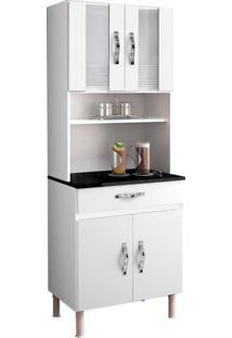 Cozinha Compacta Ventura 4 Pt E 1 Gaveta Branco