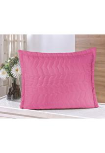 Porta Travesseiro Guga Tapetes Avulso Com Debrum Pink