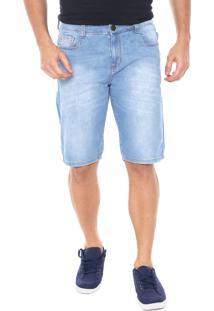 Bermuda Jeans Hering Reta Estonada Azul