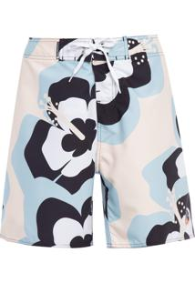 Bermuda Masculina Surf Morning Bloom - Off White