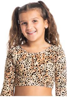 Blusa Infantil Feminina Cropped Praiana