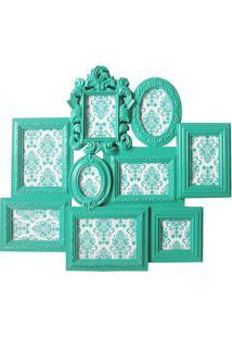 Painel De Fotos Multiple Barroque- Verde ÁGua- 58,5Xbtc Decor