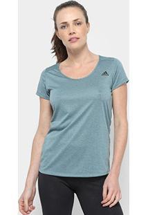 Camiseta Adidas Essential Feminina - Feminino-Verde+Preto